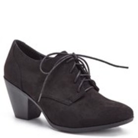 Womens Block Heel Lace-Up Comfort Shoes