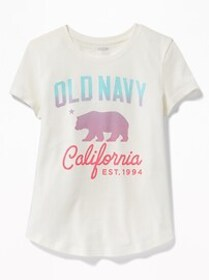 Logo-Graphic Tee for Girls