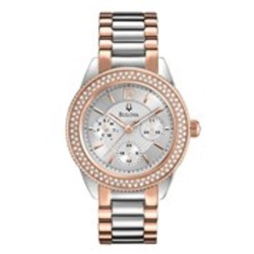 BULOVA Bulova Womens Two-Tone Crystal Chronograph