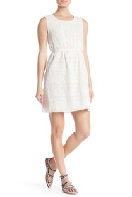 Max Studio Floral Accent Lace Sleeveless Dress