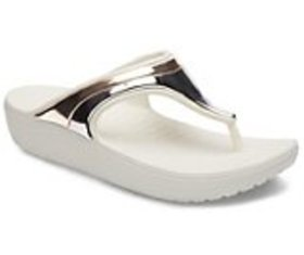 Women's Crocs Sloane MetalBlock Wedge Flip