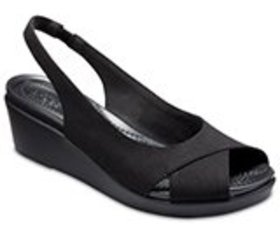 Women's Crocs LeighAnn Slingback Wedge