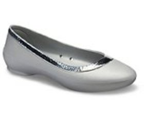 Women's Crocs Lina Hammered Metallic Flat