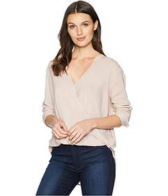 Splendid Long Sleeve Surplice Top