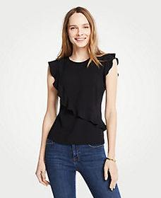 Asymmetric Ruffle Top