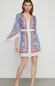 BCBG Jenissa Blossoms Print Wrap Dress