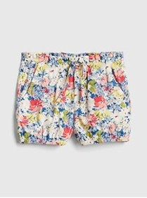 Toddler Floral Bubble Shorts In Twill
