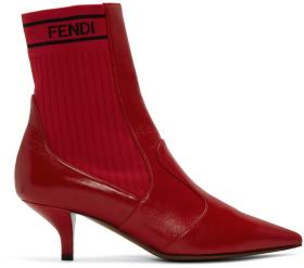 Fendi Red Rockoko Boots