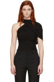 Balenciaga Black Draped C Evening Blouse