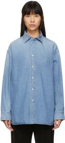 Balenciaga Blue Chambray Tattoo Shirt