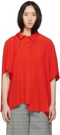 Balenciaga Red Pulled Yoke Shirt