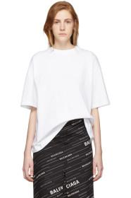 Balenciaga White 'I Love Techno' T-Shirt