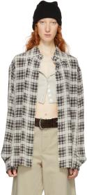 Marc Jacobs Beige & Brown Redux Grunge Silk Plaid