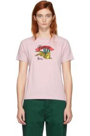 Kenzo Pink Limited Edition Jumping Tiger T-Shirt