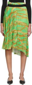 Balenciaga Green Chains Pleated Skirt