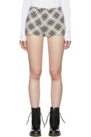 Marc Jacobs Beige & Brown Redux Grunge Plaid Short