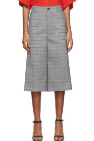 Balenciaga Black & White Houndstooth Cropped Trous
