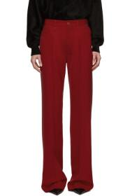 Balenciaga Red Twill Trousers