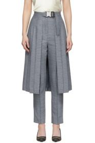 Fendi Blue Pleated Skirt Trousers