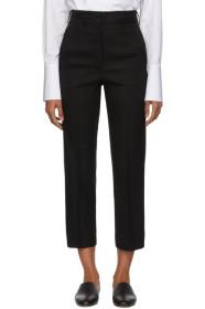Ports 1961 Black Cropped Trousers