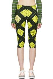 Marc Jacobs Green Redux Grunge Cropped Leggings