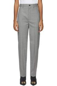 Balenciaga Black & White Houndstooth Tailored Trou