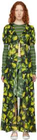 Marc Jacobs Green Redux Grunge Button-Down Dress