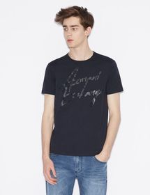 Armani T-SHIRT WITH TONE-ON-TONE LETTERING
