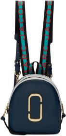 Marc Jacobs Navy & Grey Logo Strap Pack Shot Backp