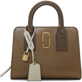 Marc Jacobs Grey & Brown Little Big Shot Bag