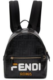 Fendi Black Small 'Fendi Mania' Backpack