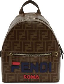 Fendi Brown Mini 'Fendi Mania' Backpack