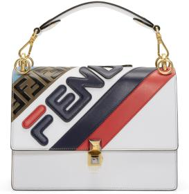 Fendi White 'Fendi Mania' 'Kan I' Bag