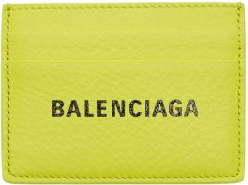 Balenciaga Yellow Everyday Card Holder