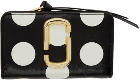 Marc Jacobs Black Polka Dot Compact Wallet