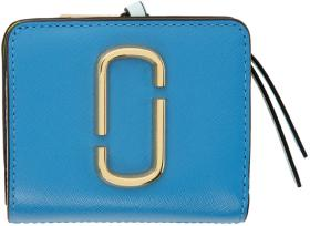 Marc Jacobs Blue Mini Snapshot Compact Wallet