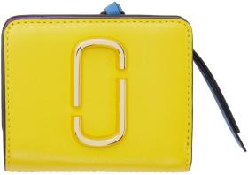 Marc Jacobs Yellow Mini Snapshot Compact Wallet