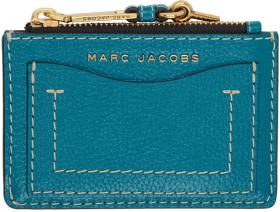 Marc Jacobs Blue 'The Grind' Zip Card Holder