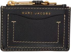 Marc Jacobs Black 'The Grind' Zip Card Holder