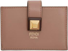 Fendi Pink Stud Multi Card Holder
