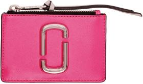 Marc Jacobs Pink Snapshot Top Zip Multi Card Holde