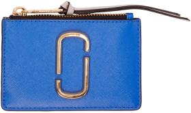Marc Jacobs Blue Snapshot Top Zip Multi Card Holde
