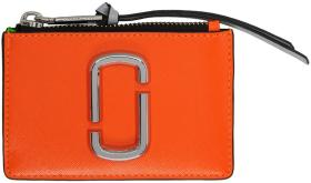 Marc Jacobs Orange Snapshot Top Zip Multi Card Hol