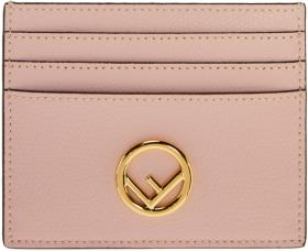 Fendi Pink 'F is Fendi' Card Holder
