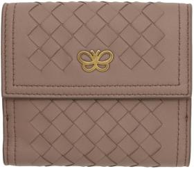 Bottega Veneta Pink Intrecciato Small Flap Wallet