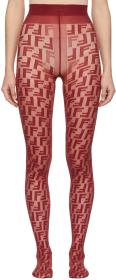 Fendi Red 'Forever Fendi' Tights