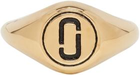 Marc Jacobs Gold Double J Signet Ring