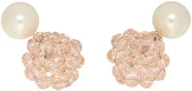 Marc Jacobs Pink Pearl Crystal Ball Drop Earrings