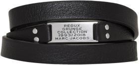 Marc Jacobs Black Redux Grunge Leather Wrap Bracel