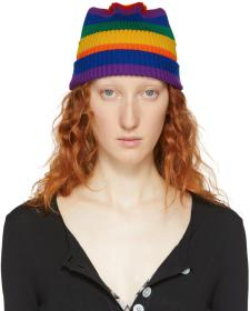 Marc Jacobs Multicolor Redux Grunge Rainbow Beanie